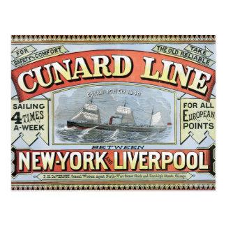 La línea de Cunard Postal
