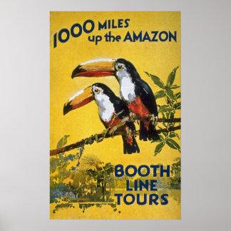 La línea de la cabina viaja a 1000 millas encima póster