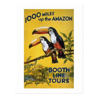 La línea de la cabina viaja a 1.000 millas encima  postal