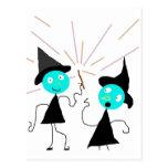 La línea de las brujas tarjeta postal