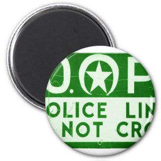 La línea de policía de New Orleans NOPD no cruza l Imán Redondo 5 Cm