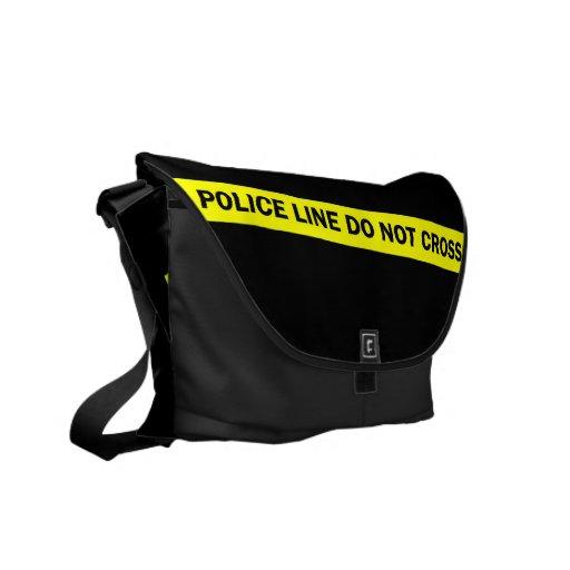 la línea de policía no cruza bolsas de mensajería