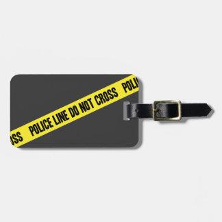 La línea de policía NO CRUZA Etiquetas Para Equipaje