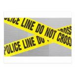 la línea de policía no cruza postales