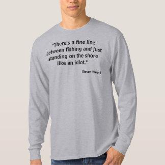 La línea fina foto de la camiseta w de la pesca playera