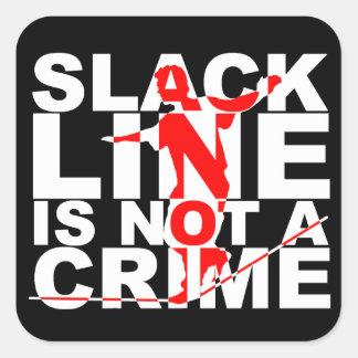 La línea floja no es pegatina del crimen