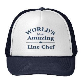 La línea más asombrosa cocinero del mundo gorros bordados