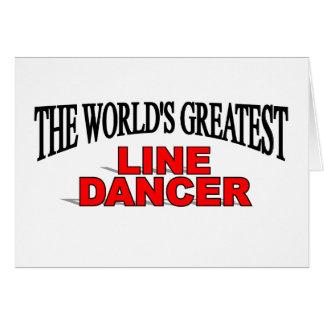 La línea más grande bailarín del mundo tarjeta de felicitación