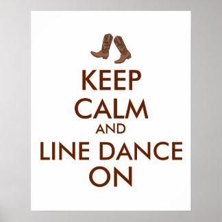 La línea regalo del baile guarda botas de vaquero póster