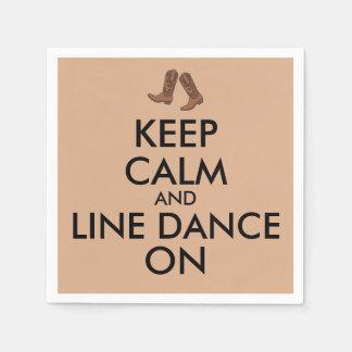 La línea regalo del baile guarda botas de vaquero servilleta desechable