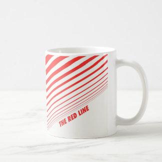 La línea roja taza de café