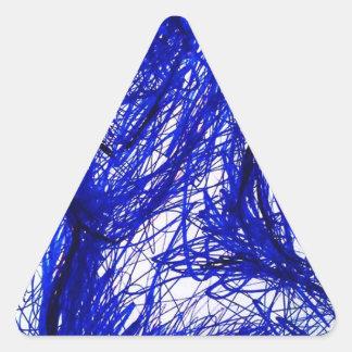La línea viva pegatina triangular