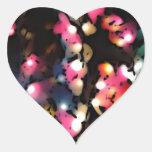 La linterna colorida enciende arte de la foto calcomanías de corazones personalizadas