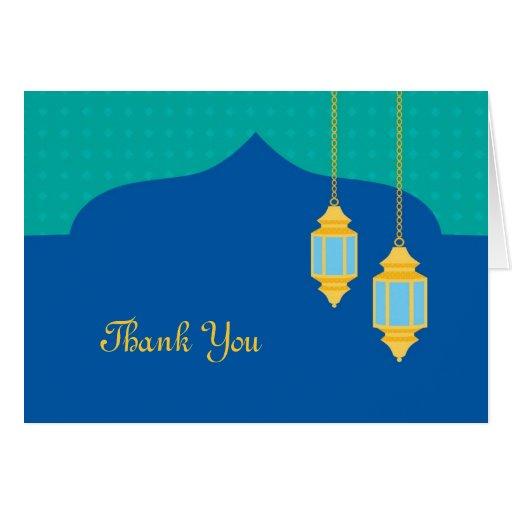 La linterna marroquí le agradece cardar tarjetas
