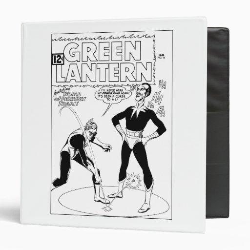 La linterna verde quita el anillo, blanco y negro