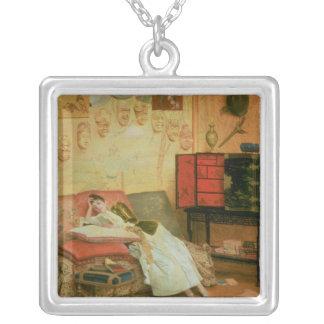 La Liseuse Silver Plated Necklace