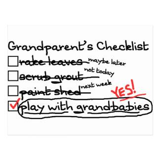 La lista de control de los abuelos postales