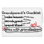 La lista de control de los abuelos tarjeton