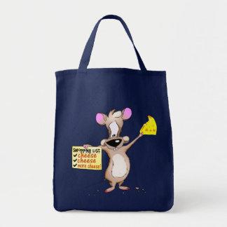 La lista de las compras del ratón bolsa de mano