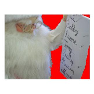 La lista de Santa Tarjetas Postales
