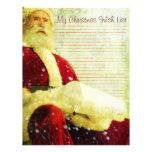 La lista del navidad membrete