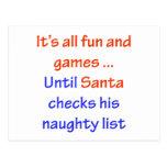 La lista traviesa de Santa Postales