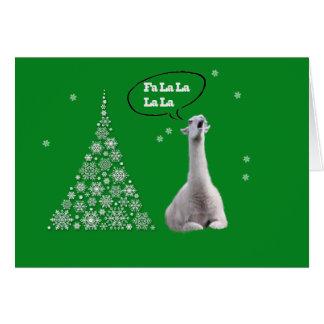 La llama blanca canta el villancico del navidad: L Tarjetón