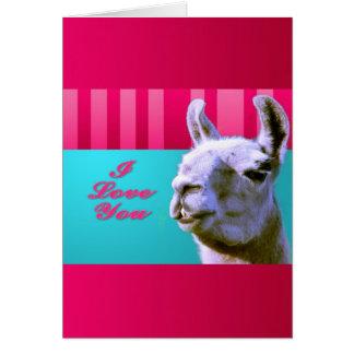 La llama de la tarjeta del día de San Valentín te