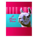 La llama de la tarjeta del día de San Valentín te Postal
