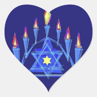 La llama de la vida pegatina en forma de corazón
