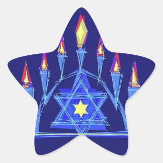La llama de la vida pegatina en forma de estrella