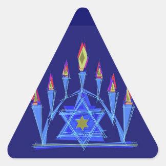 La llama de la vida pegatina triangular