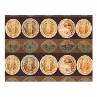 La llama de oro acuña 2010 tarjetas postales