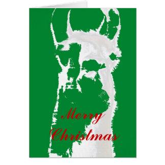 La llama Graphhic verde desea las Felices Navidad, Felicitación