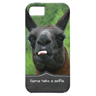 la llama toma un selfie iPhone 5 carcasa