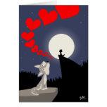 La llamada de la tarjeta de felicitación del amor