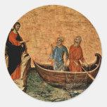 La llamada de los apóstoles Peter y Andrew Pegatinas Redondas