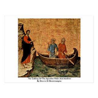 La llamada de los apóstoles Peter y Andrew Tarjetas Postales