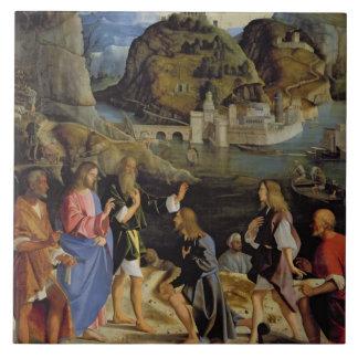 La llamada de los hijos de Zebedee (el panel) Azulejo Cerámica