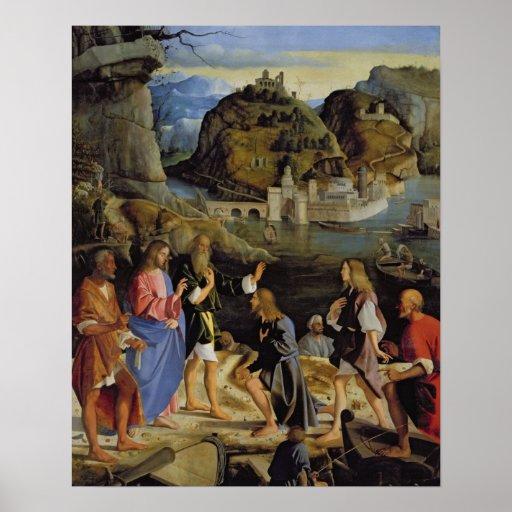 La llamada de los hijos de Zebedee (el panel) Póster