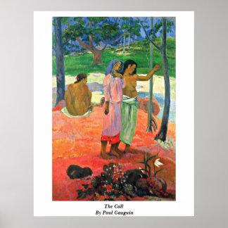 La llamada de Paul Gauguin Poster