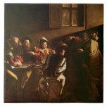 La llamada de St Matthew, c.1598-1601 Azulejo Cuadrado Grande