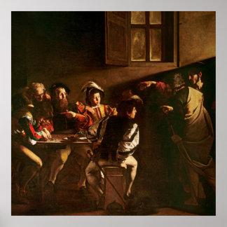 La llamada de St Matthew, c.1598-1601 Póster