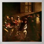 La llamada de St Matthew, c.1598-1601 Posters