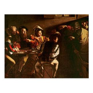 La llamada de St Matthew, c.1598-1601 Tarjetas Postales