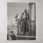La llamada del almuecín al rezo, siglo XIX Póster