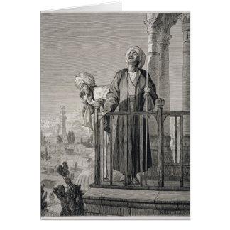 La llamada del almuecín al rezo, siglo XIX Tarjeta De Felicitación