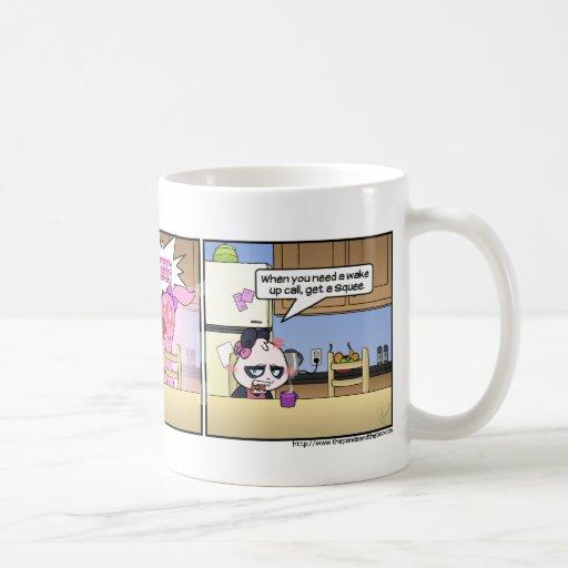 La llamada del despertar taza de café