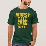 La llamada peor del fútbol siempre 9/24/12 camisa