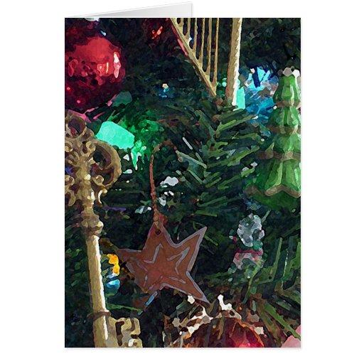 La llave a la tarjeta de felicitación del navidad